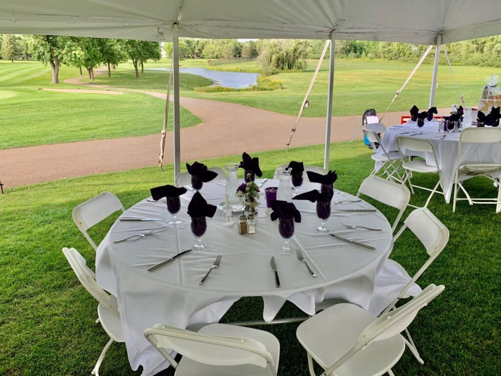 Outdoor wedding at Max's on the Green