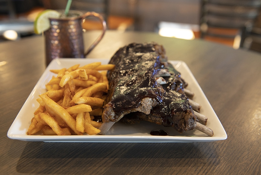 Ribs and french fries