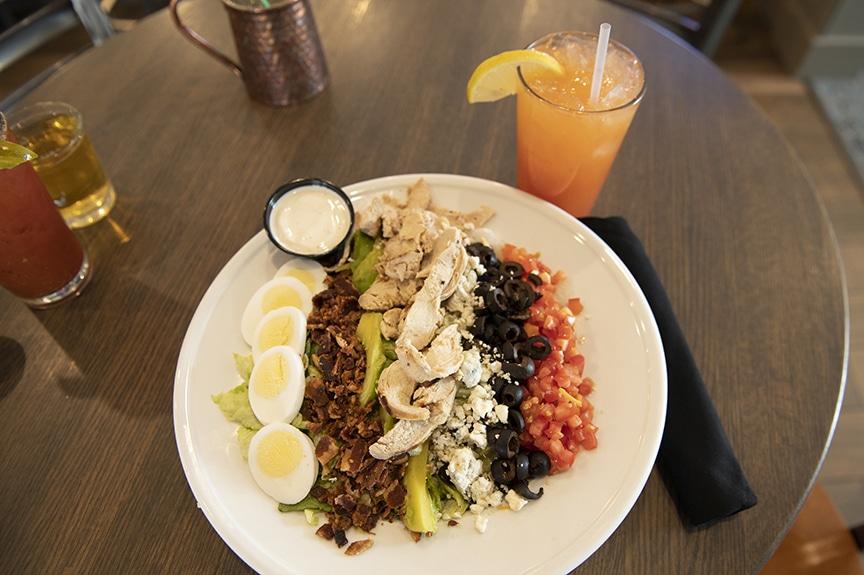 Cobb Salad on table